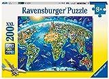 Ravensburger Kinderpuzzle - 12722 Große, weite Welt - Puzzle-Weltkarte für Kinder ab 8 Jahren, mit...