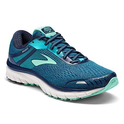 Brooks Women's Adrenaline Gts 18 Running Shoes, Blue (Navy/Teal/Mint 495), 8.5 UK