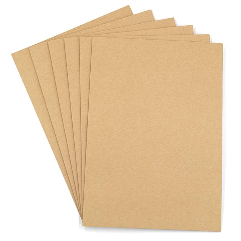 Brown Kraft Paper-100 Sheets A4 Stationery Paper,Origami Paper,120GSM Inkjet and Laser Printers Paper for Home School Office,8.3 x 11.7 Inches