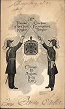 31st Triennial of the Grand Knights Conclave Encampment Templar Original Vintage Postcard