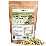 Bio Hanfsamen geschält - 1100 g (1,1 kg) – Premium: Herkunft Niederlande - Natürliche Protein...