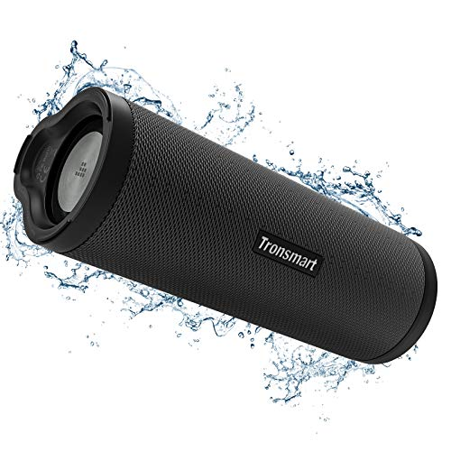 Tronsmart Force 2, Enceinte Bluetooth Portable Haut-Parleur 5.0 Bluetooth, Basse Puissant, Connection + 100 Encenties sans Fil, Etanche IPX7, Autonomie 15 Hrs, Assistant Vocal