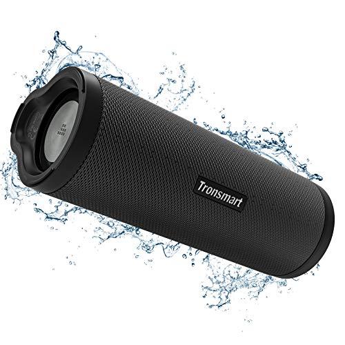 Tronsmart Force 2, Enceinte Bluetooth Portable Haut-Parleur 5.0 Bluetooth, Basse Puissant, Connection + 100 Encenties sans Fil, Etanche IPX7, Autonomie 15 Hrs, Assistant Vocal