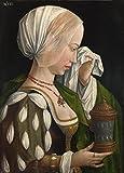 Das Museum Outlet–Workshop des Master der Magdalenen-Legende–Der Magdalenen-Weeping, gespannte Leinwand Galerie verpackt. 40,6x 50,8cm
