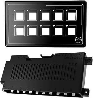 VICASKY Carro LEVOU Interruptor Do Painel de Controle Do Circuito de Carro Universal 10P Painel De Controle Interruptor de...