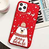 QY-Youth Cassa del Telefono di Natale dei Cartoni Animati per iPhone 12 Mini SE 2020 Caso in Silicone Soft TPU Cover Coque,F,iPhone 12 or 12 PRO Max