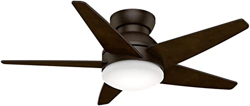 """new arrival Casablanca Fan Company 59352 44"""" Isotope Ceiling Fan with outlet online sale Light with Wall online Control, Small, Brushed Cocoa outlet sale"""