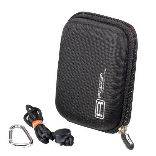 PEDEA Hardcase Kameratasche für Kompaktkamera schwarz passend für Canon IXUS 185,PowerShot G9 X Mark II/Sony DSC HX90, HX99, RX100, W810, W830/Nikon Coolpix A10/Panasonic Lumix DMC FT30/Aberg Best 21