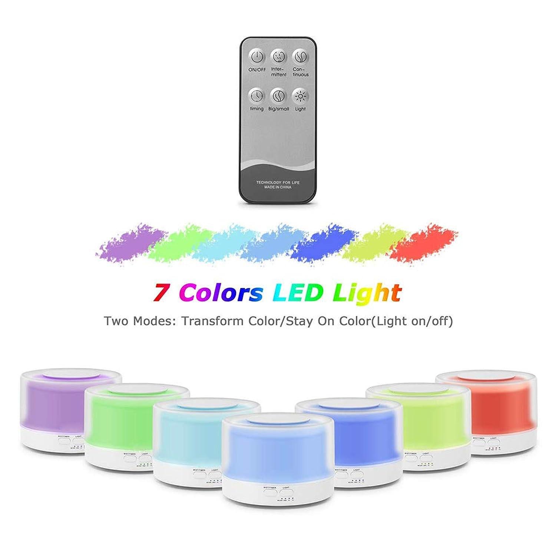 加湿器 アロマディフューザー 卓上加湿器 アロマ 700ml 7色LEDライト変換 間接照明 空焚き防止 お部屋/オフィス/温泉など適用 誕生日プレゼント