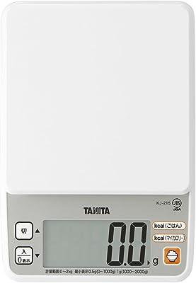 タニタ クッキングスケール キッチン はかり 料理 カロリー デジタル 2kg 0.5g単位 KJ-215 WH ごはんのカロリーがはかれる ホワイト