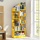 Bücherregal Form Eines Baumes Regal Wohnzimmer Platzsparende Aufbewahrungsbox Schlicht Modern (Farbe : Gelb)