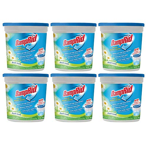 For Sale! Damprid Refillable Moisture Absorber Fresh Scent, 10.5 Ounce, Pack of 6