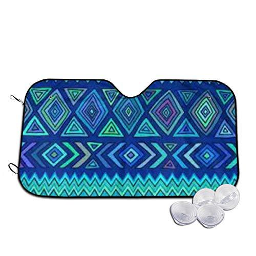 Rterss Drak Blue Boho aangepaste voorruit zonnescherm vizier voorruit glas voorkomen dat de auto van het verwarmen van binnen