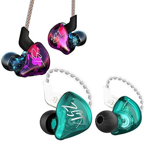 KZ ZST + KZ ZSTX Cyan no MIC Earphones Earbuds Headphones(Bundle)