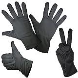 SJ3D 1 Paar feine Mikorfaser Handschuhe Schwarz in 4 Größen