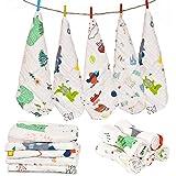 Republic of Kids Bamboo, Cotton Wash Cloths (Set of 5, Multicolour)