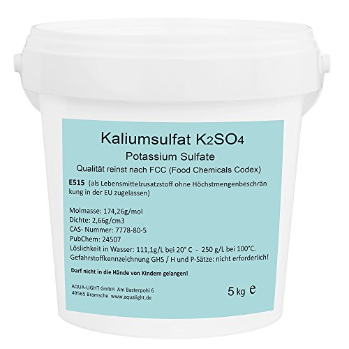 Kaliumsulfat 5kg K2SO4 - E515 Lebensmittelqualität