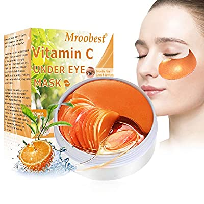Under Eye Patches, Collagen Eye Mask, Eye Treatment Mask, Vitamin C Eye Mask, Under Eye Mask for Anti-Aging Reducing Dark Circles Puffiness Wrinkles, Under Eye Bags Treatment - 30 Pairs by Mroobest