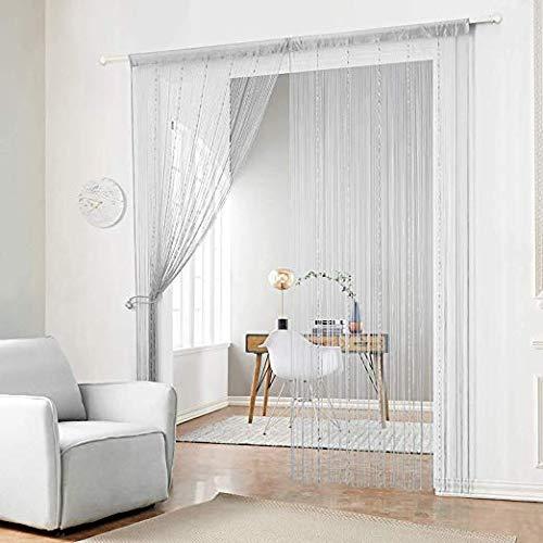 Me zwart kralen gordijn voor venster deurketting enkele raam plastic strip gordijn voor decoraties