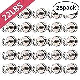 Bkinsety Magnet Haken, 25 Stück Magnete mit Haken, 10kg Super Starker Neodym Hacken Magnet...
