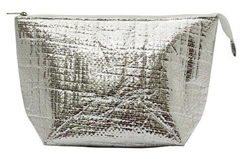 保冷バッグ クーラーバッグ シルバー 16×26cm VS-310-217