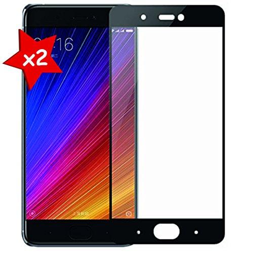 Granadatech [Pack-2] Cristal Templado para Xiaomi Mi5S Plus Negro [Pantalla Completa] [Cubre el Borde Biselado] Protector de Pantalla, Calidad HD, Alta Resistencia a Golpes 9H - Sin Burbujas