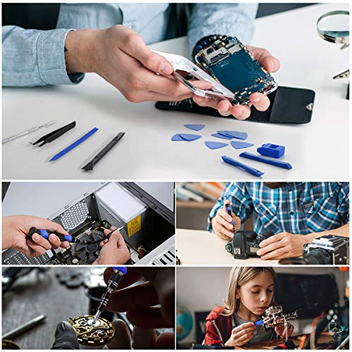 ORIA Screwdriver Set, (2020 New Version) 142 in 1 Precision Screwdriver Kit with 120 Screwdrivers Bits, Portable Bag for SmartPhone MacBook, Laptop, Watches, Blue