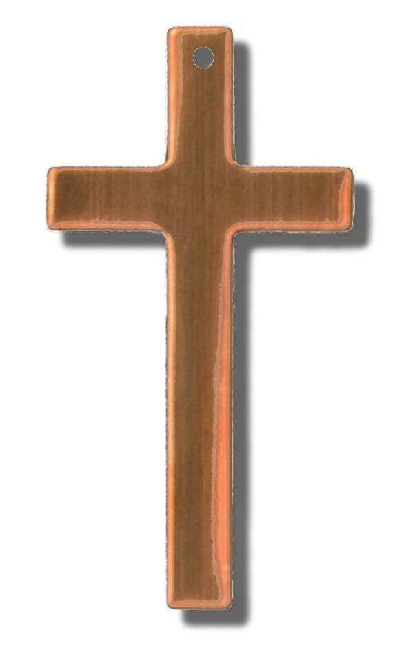 RMP Stamping Blanks, .022 Copper Cross, 16 oz. with 1 hole, 3/4