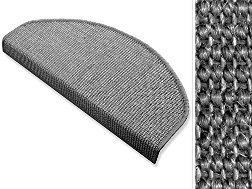 Sisal Stufenmatten Grau Größe: 25x65cm