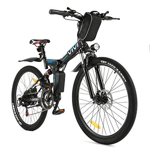 "Vivi Ebike E-Mountainbike 26"" Elektrofahrrad 350W Ebike Klapprad, E-Bike Herren und Damen mit herausnehmbarer 8Ah Lithiumbatterie, professionelle 21-Gang-Gänge"