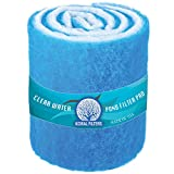 Koral Filters PRO Koi Pond Filter Pad Media Roll - Blue Bonded - 12 Inches by 72 Inches (6 ft) by 1.25 Inches - Cut to Fit - Durable - Fish and Reef Aquarium Compatible