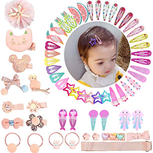 60 Pcs Baby Hair Clips Set for L...