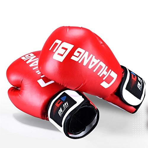 YUXINXIN bokshandschoenen Muay Thai bokszakhandschoenen sparring stansen Maya bont leder MMA, kickboksen, training boksuitrusting rood