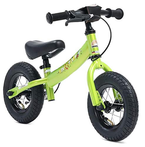 Bikestar Bicicleta de equilibrio para niños de 2 años con neumáticos de aire y frenos | 10 pulgadas Sport Edition | verde brillante , color/modelo surtido