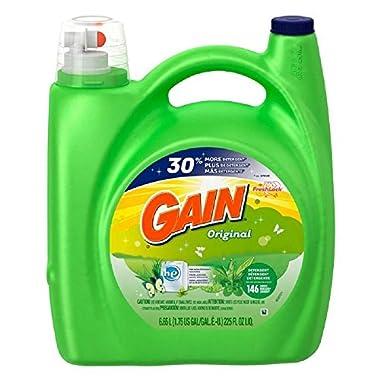 Giant Pack Mega Value Gain Liquid Detergent with Original Scent, 146 Loads, 225-Ounce