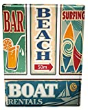 Blechschild Retro Surfen