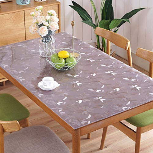 Deirdre Agnes PVC tafelkleed waterdicht transparant eettafel beschermmat woonkamer salontafel tafelkleed 90x150cm