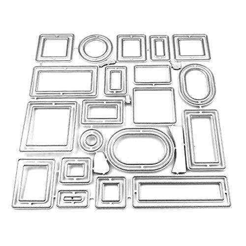 PINH-lang Stanzmaschine Stanzschablone, Quadratisches Set DIY Set Metallschneidform Schimmel DIY Sammelalbum Stempel Papier Karte Geprägt Handwerk Dekoration