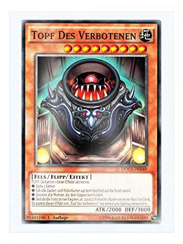 DOCS-DE040 Topf Des Verbotenen 1. Auflage im Set mit original Gwindi Kartenschutzhülle