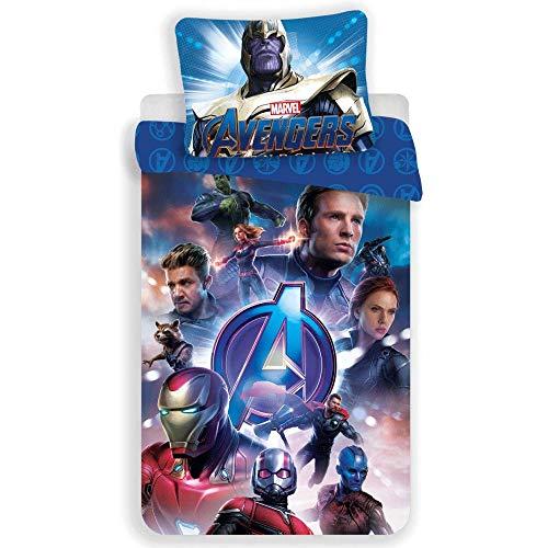 Marvel Avengers – Juego de Cama – Funda de edredón de algodón