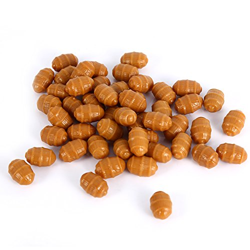 VGEBY Fishing Baits Soft Carp Fishing Floating Artificial Tiger Nut Baits Terminal Tackle Pellets (#5-50pcs)