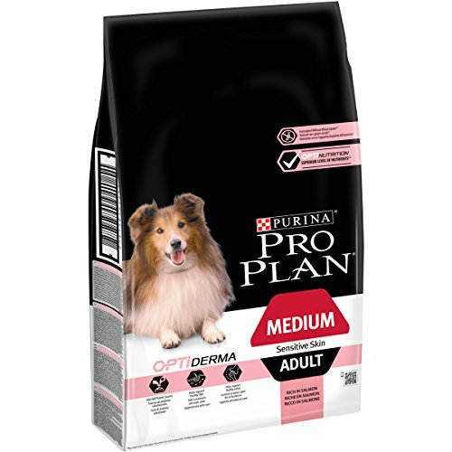 PRO PLAN Medium Adult Sensitive Skin avec OPTIDERMA Riche en Saumon - 7 KG - Croquettes pour chiens adultes de taille moyenne