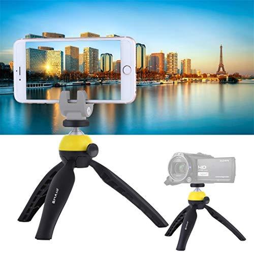 Linxiucen Nuevo Bolsillo Mini trípode con rótula de Bola de 360 Grados for teléfonos Inteligentes, GoPro, cámaras DSLR (Azul) (Color : Yellow)