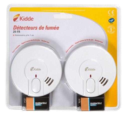 Kidde KIDBIPACK29-FR Pack 2 Détecteurs de fumée STD