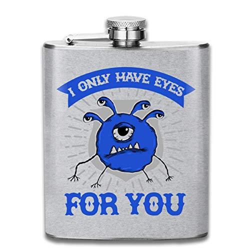 D and D Beholder Only Have Eyes for You Flasque de poche en acier inoxydable avec drapeau 200 ml