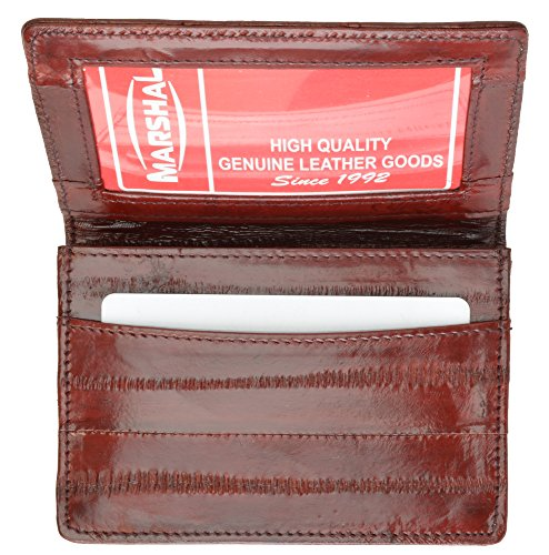 100% EEL Skin Business Cards Holder Burgundy #E324