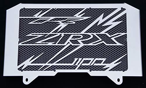 Kühlerverkleidung/Kühlerabdeckung polierten Edelstahl für 1100 ZRX 1998>2000 Design «Eclair» + silberiges Schutzgitter