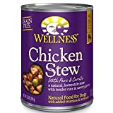 Wellness Thick & Chunky Natural Grain Free Canned Dog Food, Chicken Stew, 12.5-Ounce Can (Pack of 12)