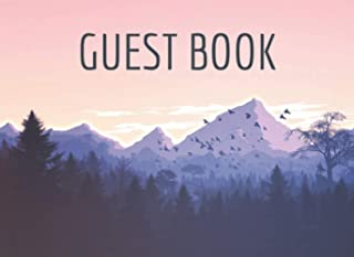 Guest Book for Vacation Home Mountain: Sign in Book For Your Holiday Rental, Lodge, Airbnb or Bed and Breakfast
