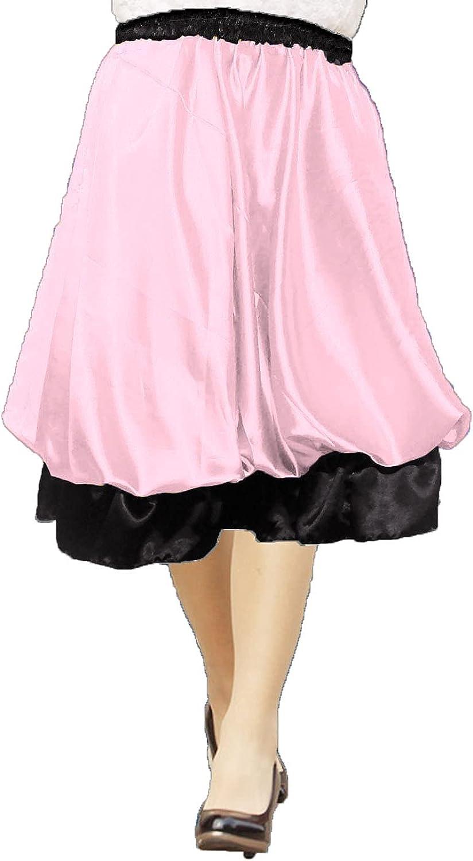 Meek Mercery Satin Bubble Skirt Belly Dance Puffball Skirt Casual Formal Wear One Size S38